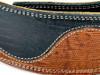 "2 .5"" Serpentine: Black Iguana/Brown Iguana Leather Guitar Strap"
