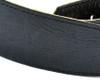 """2.5"""" Vintage Black Leather Guitar Strap"""
