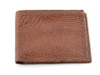 "Brown Iguana Leather ""Pick Panel"" Wallet - Bi-Fold"