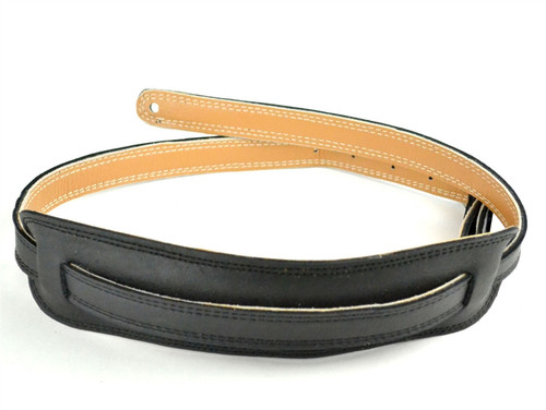 Black Velvet 50's Vintage Style Leather Guitar Strap – Long