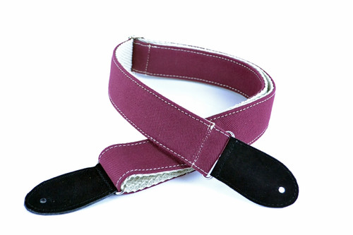 Wine Red w/ Cotton Backing Guitar Slider Strap