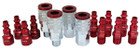 "14 Piece M-Style 1/4"" NPT Red"