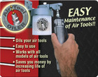 Air Tool Oil lubricant Dispenser by Steck Tool manufacurer for all brand air tools.