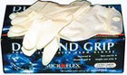 Diamond Grip Latex Gloves Med