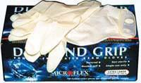 Diamond Grip Latex Gloves Med
