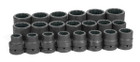 "1"" Drive 21 Piece Fractional Impact Socket Set"