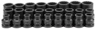 "1"" Drive 26 Piece Metric Impact Socket Set"