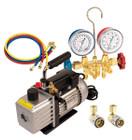 Vacuum Pump And Brass Manifold