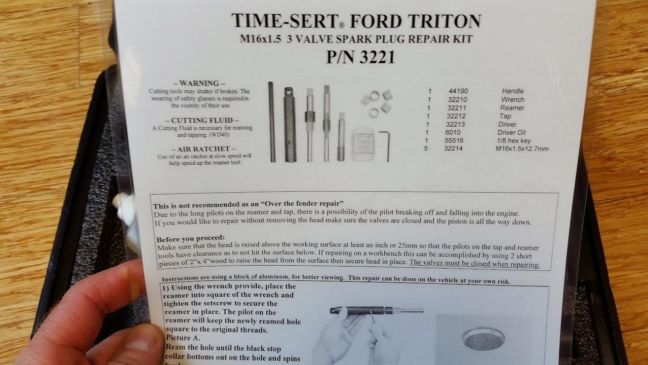 Time-Sert Ford 3 Valve SPARK PLUG REPAIR M16x1.5 p//n 3221