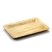 "Bamboo Leaf Plate Rectangular 8"" x 5"" 