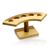 Crescent Bamboo Cone Stand, 5 Slots