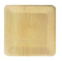 Bamboo Veneer Square Plate Medium | 100 count box