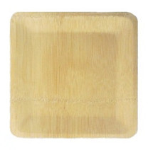 Bamboo Veneer Square Plate Large | 100 count
