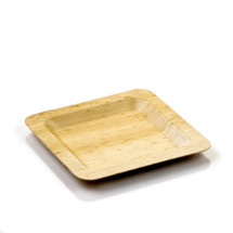 Bamboo Leaf Plate Large 8"