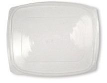 Lid- 48/64 ounce clear rectangular Deli | 400 count