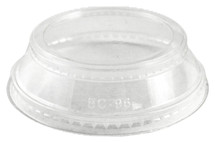 Clear Lid with Souffle Holder for 9 oz-24 oz Cups | 1,000 count