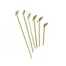 """NOSHI"" Bamboo Looped Skewer - 4.7"" 
