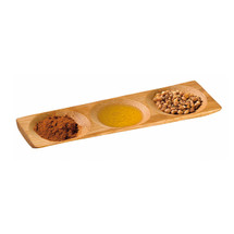 """PATONG"" Bamboo Three Compartment Dish 7.1 x 2.4 x .4"" 