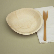 """8"""" x 8"""" Round Palm Leaf Plates   100 Count"""