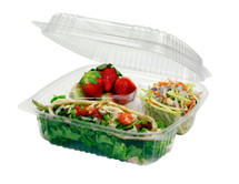 """8 """"x 8"""" x 3"""" Hinged Clear Clamshell 