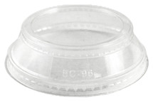Clear Lid with Souffle Holder for 9 oz-24 oz Cups  | Sample