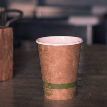 12 oz World Centric Kraft Paper Cup  | Sample