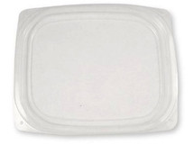 Lid for World Centric 24/32 oz. Clear, Rectangular Deli  | Sample