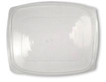Lid- 48/64 ounce clear rectangular Deli  | Sample