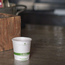 4 oz White Compostable Coffee Cups | Biodegradable Paper Hot Cups | 1000 Count