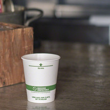 6 oz White Compostable Coffee Cups | Biodegradable Paper Hot Cups | 1000 Count
