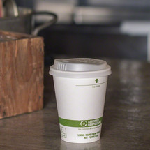 8 oz White Compostable Coffee Cups | Biodegradable Paper Hot Cups | 1000 Count