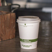 12 oz White Compostable Coffee Cups | Biodegradable Paper Hot Cups | 1000 Count