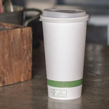 20 oz White Compostable Coffee Cups | Biodegradable Paper Hot Cups | 1000 Count