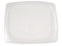 Lid for World Centric 24/32 oz. Clear, Rectangular Deli | 600 count