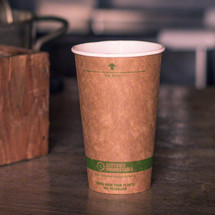 16 oz. Kraft Paper Cups | Compostable Hot Coffee Cups | 1000 count