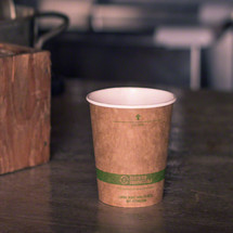 10 oz Kraft Paper Cups | Compostable Hot Coffee Cups | 1000 count
