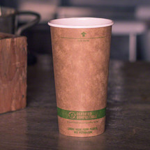 20 oz Kraft Paper Cups | Compostable Hot Coffee Cups | 1000 count