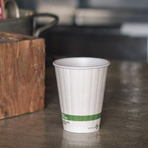 8 oz Double Wall Compostable Hot Paper Cups | Insulated Coffee Cups | Biodegradable Paper Hot Cups | 1000 Count