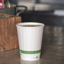 12 oz Double Wall Compostable Hot Paper Cups | Insulated Coffee Cups | Biodegradable Paper Hot Cups | 1000 count