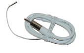 AM/FM Dipole Antenna Stealth White 1.3m