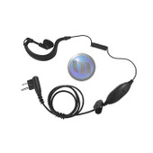MIDLAND Ear Mic W PTT + VOX (2 Pin L Type) - Suits G7 & HP408 - Curly Cable