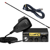 Cobra Compact CB 27Mhz Radio 40 Channel + Antenna + Cable