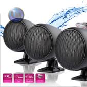 Mini Marine Waterproof Loudspeaker - 3 Inch - External Mount - Black