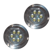 2 x 12W Underwater LED Boat Lights