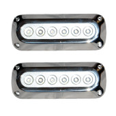 2 x 18W Underwater LED Boat Lights - Rectangle Design