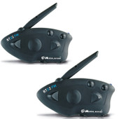 Advanced Twin Pack Bluetooth Intercom with FM Radio (to 800m) - Stereo - USB Charger - VOX -FM Radio