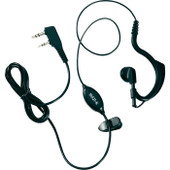 Midland ADJUSTABLE EAR MICROPHONE - Selectable PTT with Curly Cord - 2 PIN L TYPE