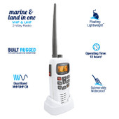 Uniden 5W Dual Band VHF/UHF CB 2-way Radio - Waterproof: IPX7/JIS7 - Large LCD Display with Backlit