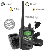 Uniden 5 Watt UHF Waterproof CB Handheld Radio - 80 UHF Channels - Range Extender Duplex Capability
