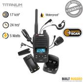 Uniden 5 Watt Heavy Duty UHF Waterproof CB Handheld Radio - 80 UHF Channels - Interference Eliminator CTCCS